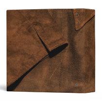 Suede Coat Look of Leather Binder