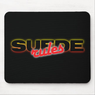 Suede Rules mousepad