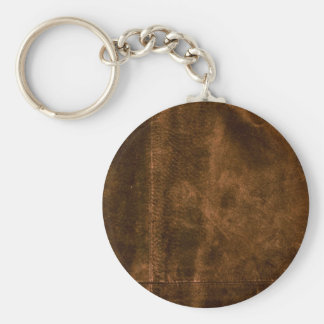 Suede Seam Look of Leather Keychain