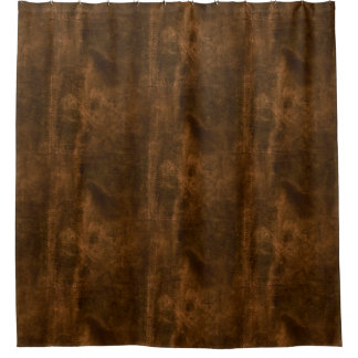 Suede Seam Look of Leather Shower Curtain