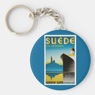 Suede via Londres Keychain