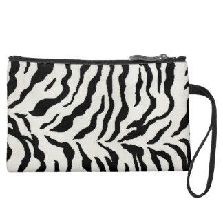 Sueded Mini Clutch Zebra Design