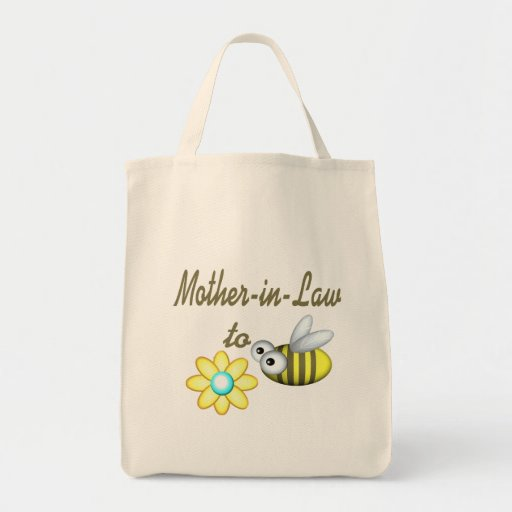 Suegra a la abeja bolsa lienzo