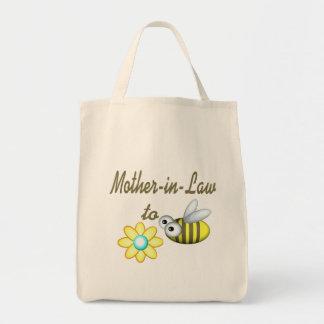 Suegra a la abeja bolsa tela para la compra
