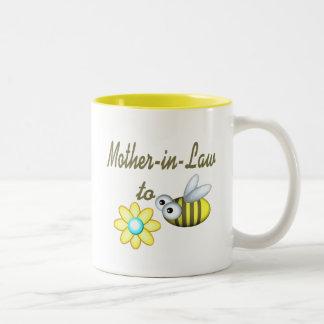 Suegra a la abeja taza de dos tonos