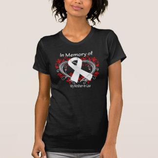 Suegra - en corazón del cáncer de pulmón de la mem t-shirts