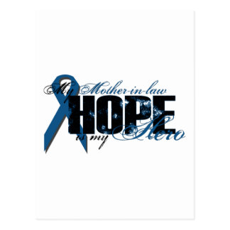 Suegra mi héroe - esperanza del cáncer de colon tarjeta postal