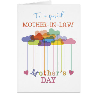 Suegra, nubes lindas del arco iris del día de tarjeta de felicitación