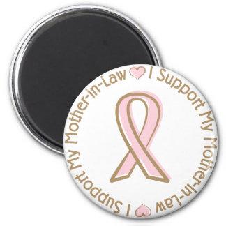 Suegra rosada de la ayuda del cáncer de pecho de l imán redondo 5 cm