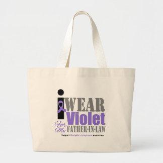 Suegro violeta de la cinta - el linfoma de Hodgkin Bolsas Lienzo