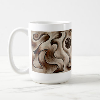 Suelo abstracto, taza de café orgánica de la