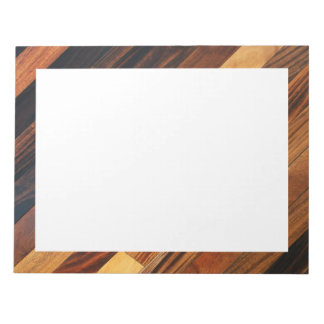 Suelo de madera diagonal bloc de notas