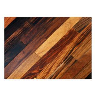 Suelo de madera diagonal plantilla de tarjeta de visita