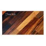 Suelo de madera diagonal tarjeta de visita