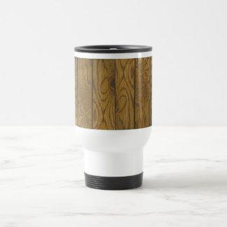 Suelo de madera taza de viaje de acero inoxidable