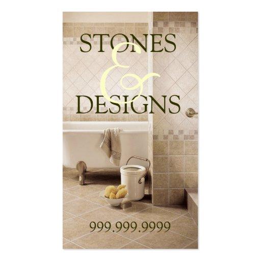 Suelo de piedra de la construcción del mármol del tarjeta de visita