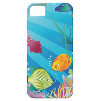 ¡Suelo marino tropical con los pescados - Funda Para iPhone SE/5/5s