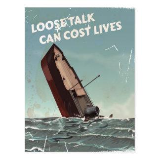 Suelte el poster de las vidas WW2 del coste de la Postales