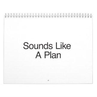 Suena como un Plan.ai Calendario De Pared