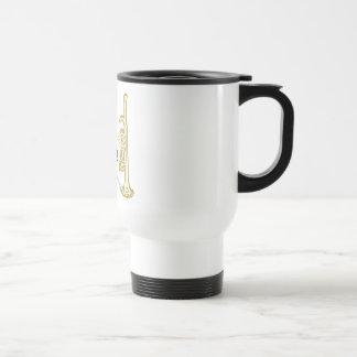 Suene la trompeta taza térmica