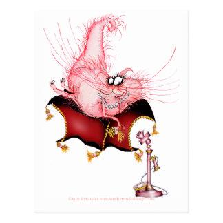 Suene mi Bell - dibujo animado divertido del gato, Postal