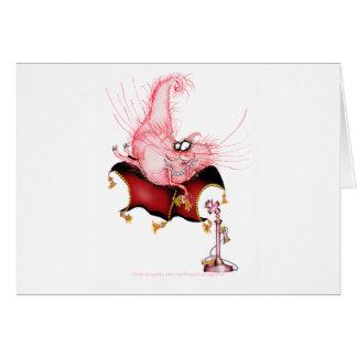 Suene mi Bell - dibujo animado divertido del gato, Tarjeta De Felicitación