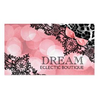 Sueño 311 en leopardo ligero y perla rosada dulce  tarjetas de visita