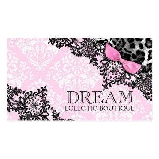 Sueño 311 en rosa femenino del leopardo y del cord plantillas de tarjetas de visita