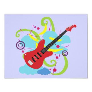 """Sueño a solas de la guitarra invitación 4.25"""" x 5.5"""""""