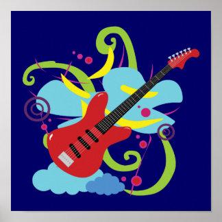 Sueño a solas de la guitarra poster