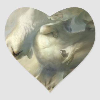 Sueño abajo pegatina en forma de corazón