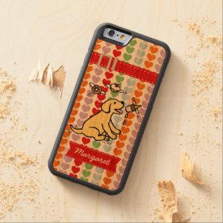 Sueño amarillo personalizado del helado de funda de iPhone 6 bumper cerezo