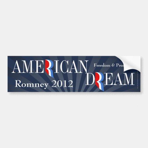 Sueño americano, Favorable-Romney pegatina para el Etiqueta De Parachoque