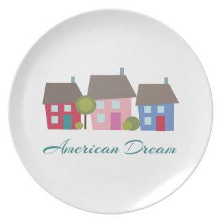 Sueño americano plato de cena