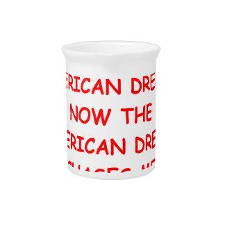 sueño americqan jarra de beber