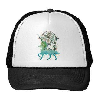 Sueño animal nativo del indio del caballo de gorras