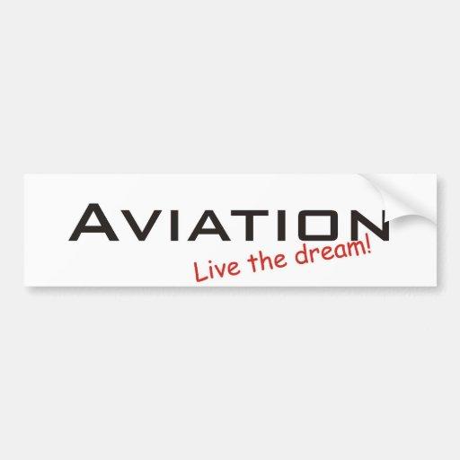 Sueño/aviación Pegatina De Parachoque