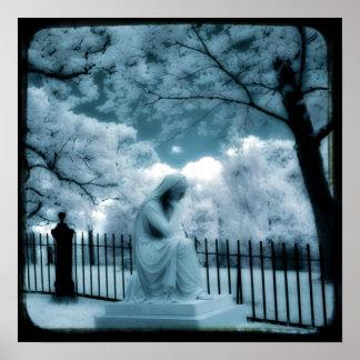 Sueño azul surrealista póster