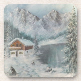 Sueño bávaro determinado de la nieve de Ana Hayes Posavasos De Bebidas