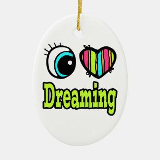 Sueño brillante del amor del corazón I del ojo Adornos De Navidad