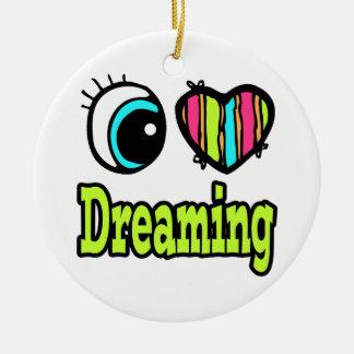 Sueño brillante del amor del corazón I del ojo Adorno De Navidad