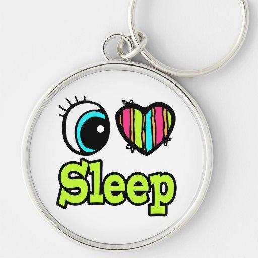 Sueño brillante del amor del corazón I del ojo Llavero Personalizado