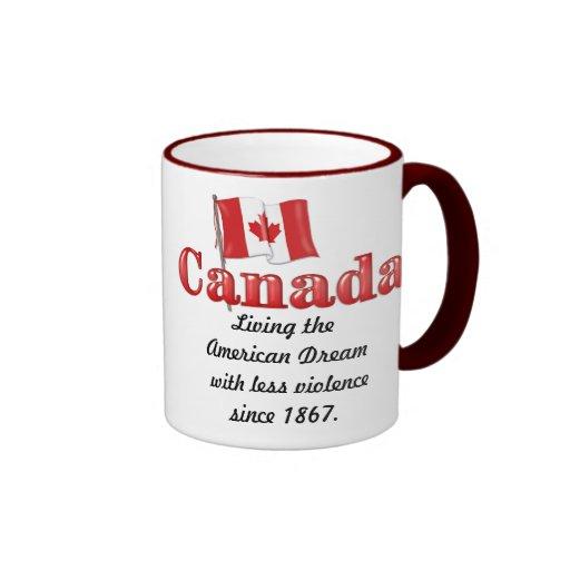 Sueño canadiense taza de dos colores