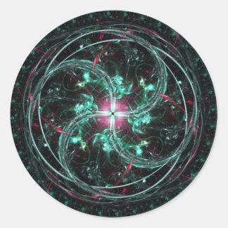 Sueño celestial etiqueta redonda