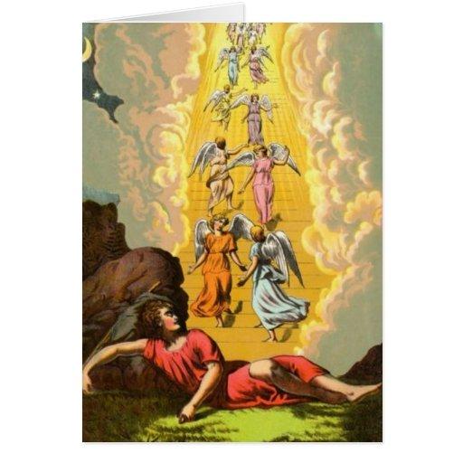 Sueño colorido de los ángeles de Jacob Felicitaciones