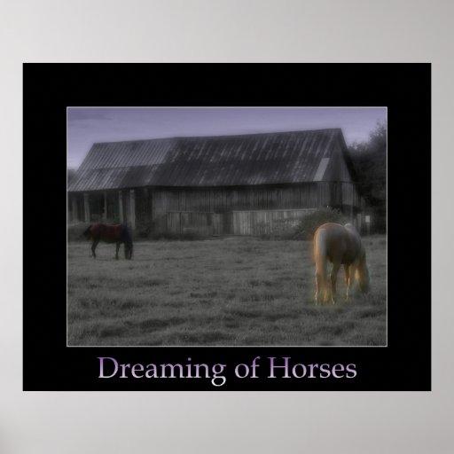 Sueño con caballos posters