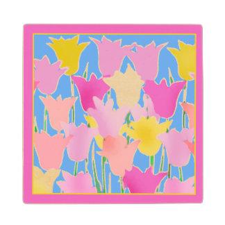 Sueño con el arte del tulipán del extracto de la posavasos de madera