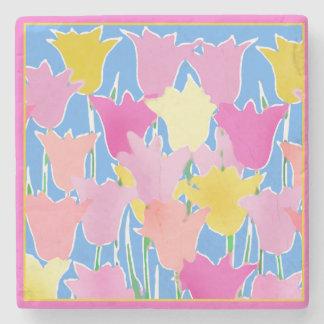 Sueño con el arte del tulipán del extracto de la posavasos de piedra