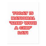 """""""Sueño con el día nacional de un cocinero"""" Postal"""