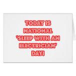 """""""Sueño con el día nacional de un electricista"""" Felicitación"""